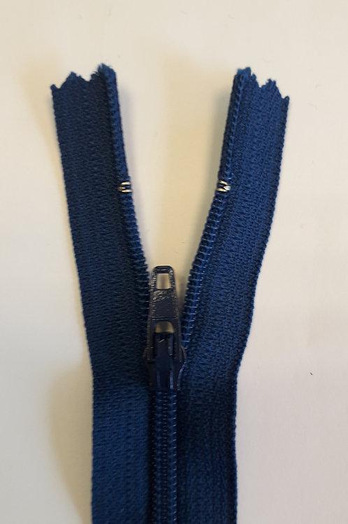 Fermeture Z51 10 à 20cm 4mm non-détachable bleu drapeau 540