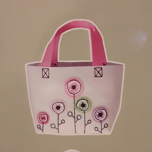Kit créatif couture Sac fleurs