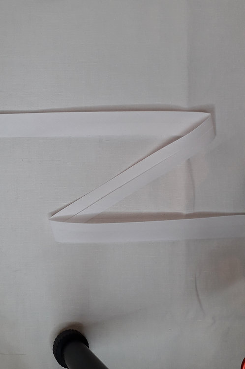Biais 20mm blanc (501)