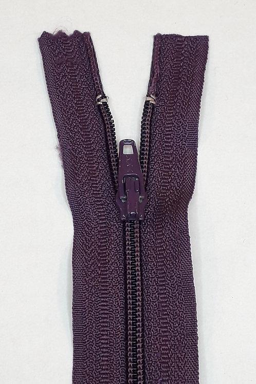 Fermeture Z51 10 à 20cm 4mm non-détachable Violet foncé 869