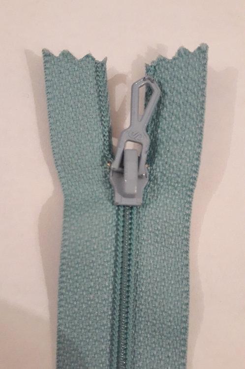 Fermeture Z51 10 à 20cm 4mm non-détachable bleu layette 505
