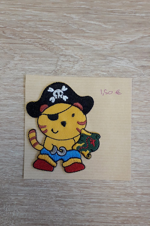 Ecusson thermocollant Chat pirate