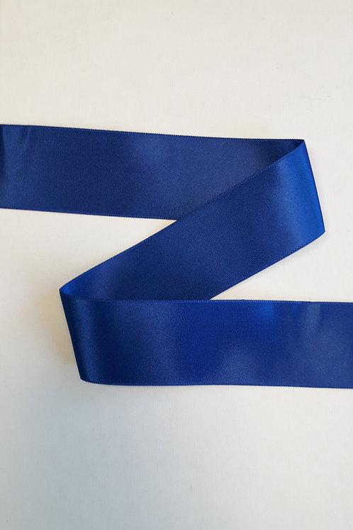 Ruban satin double face 50mm bleu roi (024)