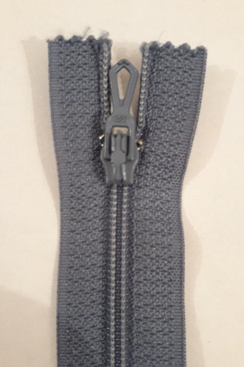 Fermeture Z51 10 à 20cm 4mm non-détachable bleu gris 533