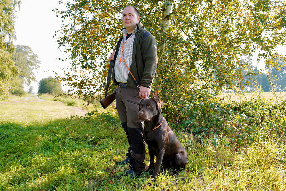 Sascha Segger mit Butscher von der Briesener Heide