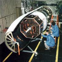 imagem do SCD-1 na coifa do foguete