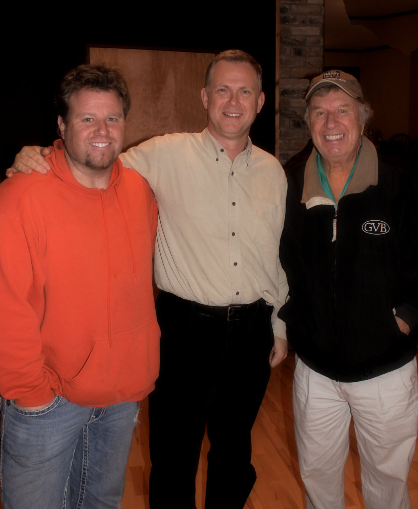 Mark with Ben and Bill Gaither
