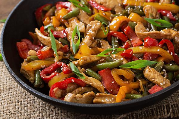 Rezepte für die Bordküche: Geflügel-Paprika-Pfanne