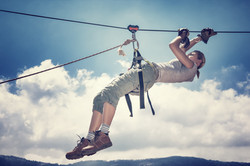 bigstock-Active-sportive-woman-hanging--85111439