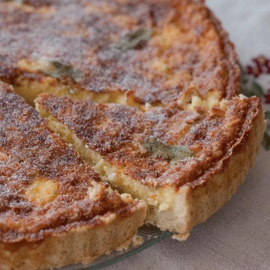 Rezepte für die Bordküche: Flaö - Käse-Minz-Kuchen aus Ibiza