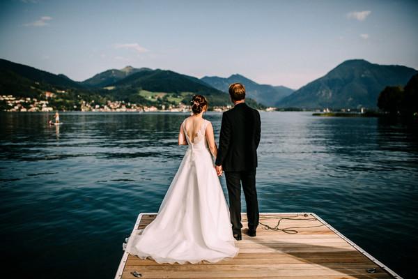 TEGERNSEE / klassische Hochzeit / Bootshaus