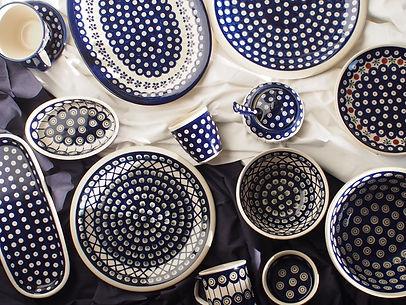 ceramika-boleslawiecka-miseczki-zdobione