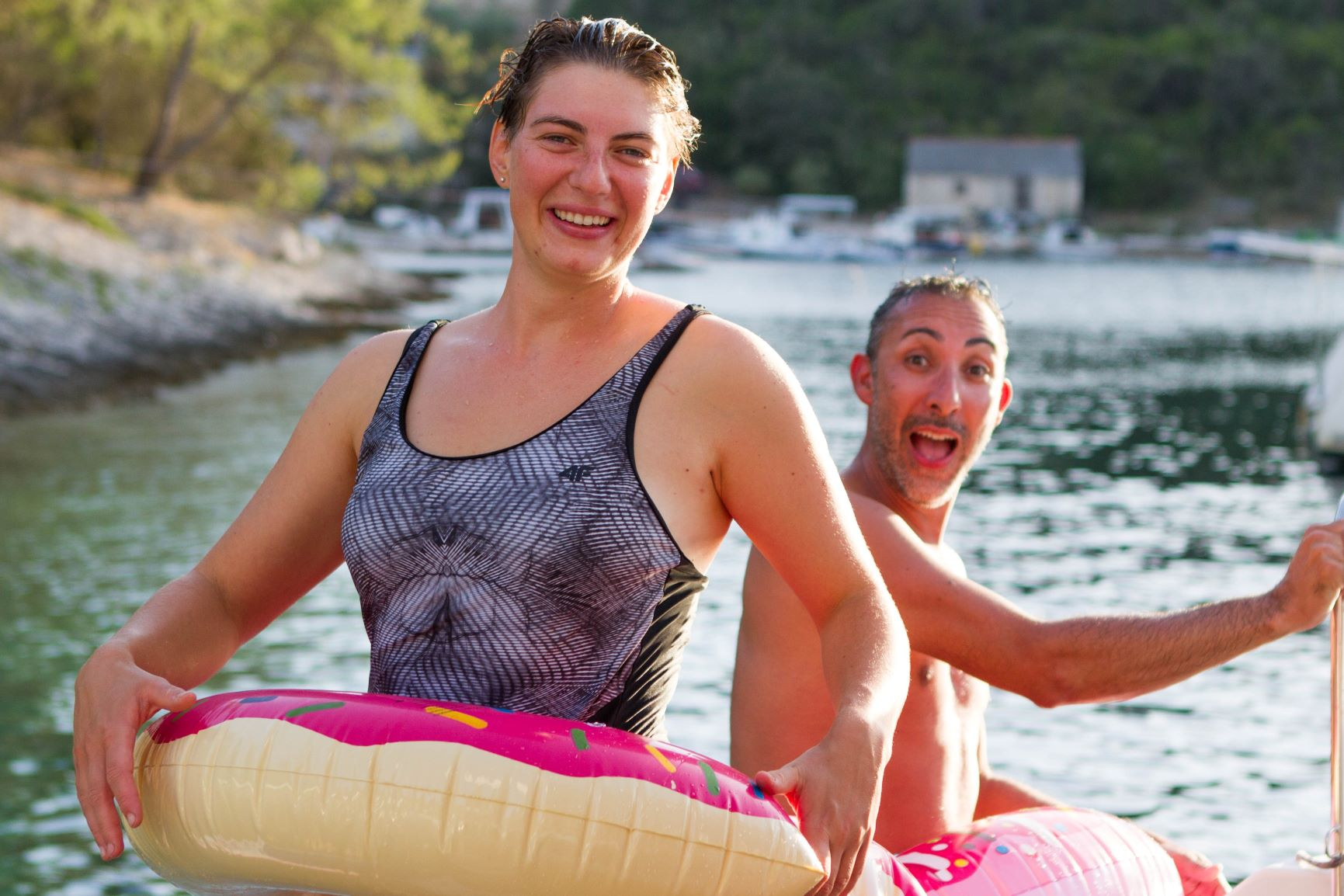 Floatation device fun on the Adriatic_Da