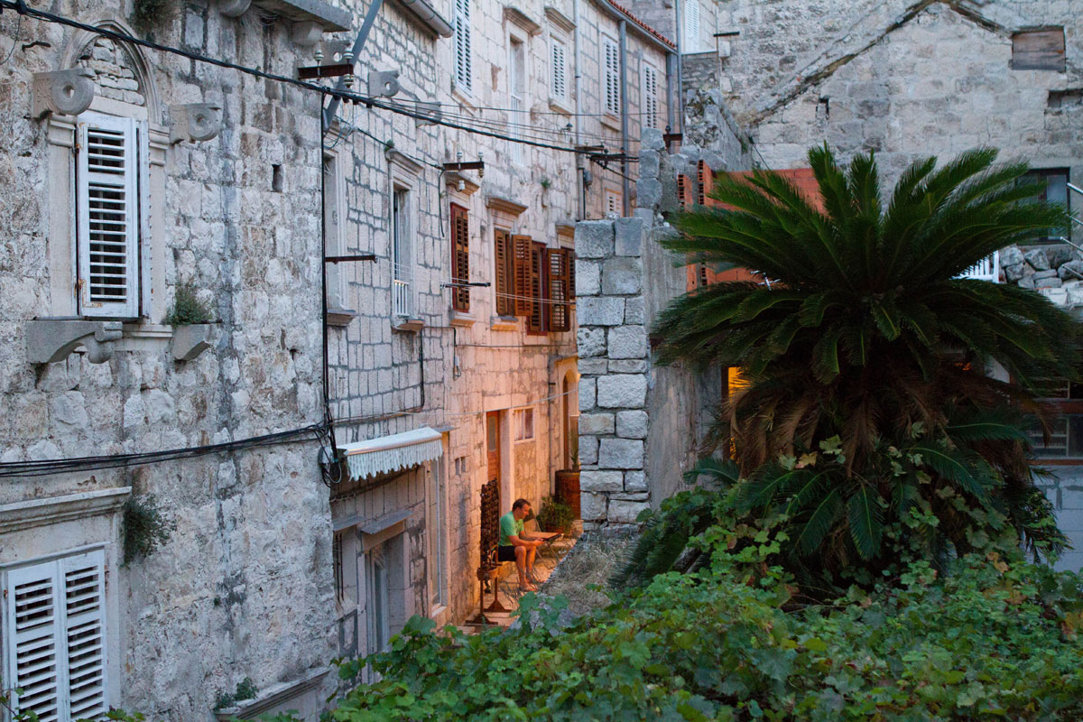 Streets-of-Korcula-at-dusk_Dalmatia-Coas