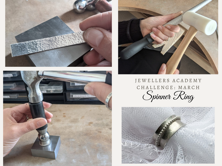 March Jewellery making challenge - Spinner Ring