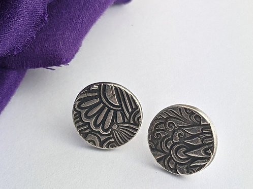 Sustainable Silver Floral Stud Earrings