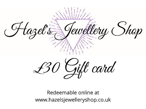 £30 gift card - Print at home Gift Card. Gift voucher. Gift certificate
