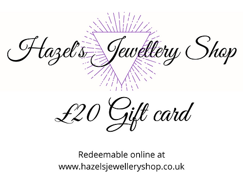 £20 gift card - Print at home Gift Card. Gift voucher. Gift certificate