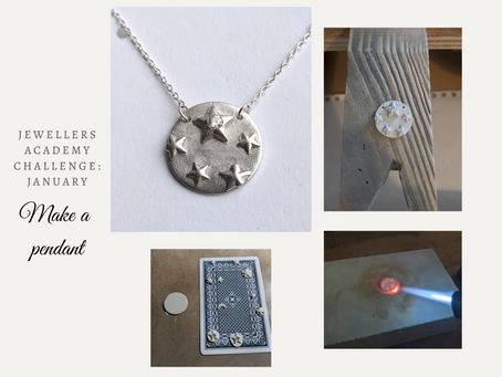 January jewellery making challenge - Pendant