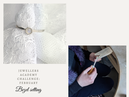 February Jewellery making challenge - Bezel setting