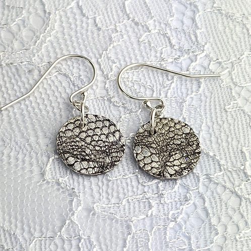 Sustainable Silver Lace Dangle Earrings