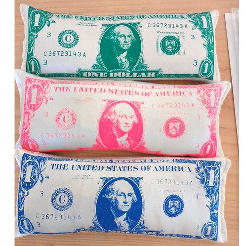 Meredith Hildebrand Dollar Bill Eye pillow
