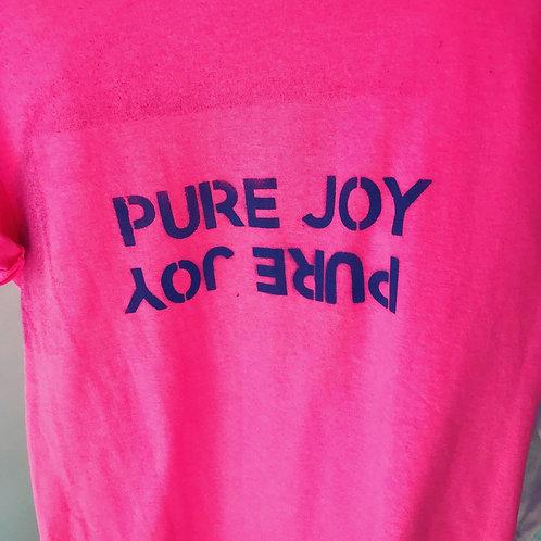 Pure Joy custom raw edge tee