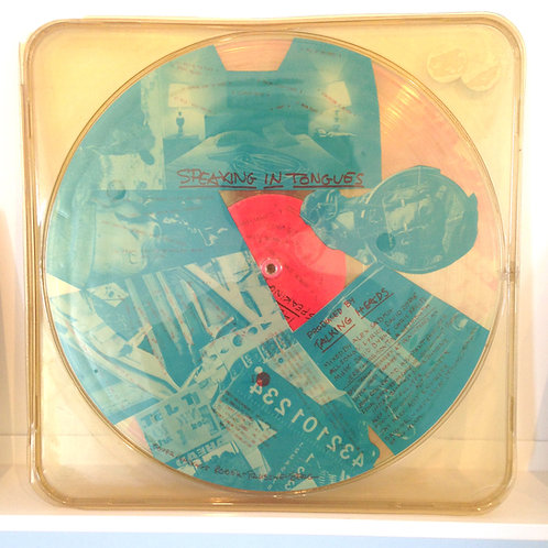 The Talking Heads, Speaking in Tongues LP, with art by Robert Rauschenberg