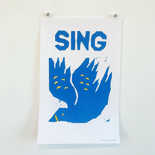 Bread and Puppet Theatre 'Sing' poster