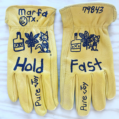Hold Fast Custom dearskin gloves by the famous Steve Wilcox