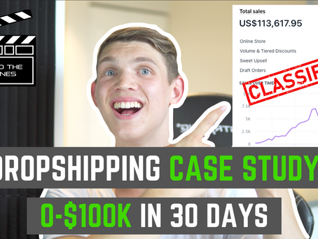 Dropshipping Case Study - $0 to $100K In 30 Days (Facebook Ads)