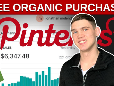 How I get FREE Organic Purchases With Dropshipping Pinterest Ads