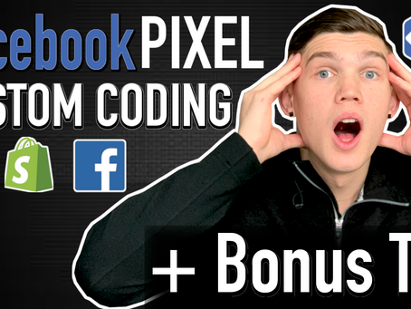 HOW To ADD Facebook PIXEL To SHOPIFY - Custom CODING