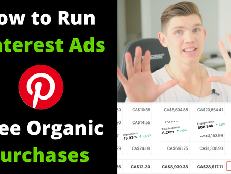 How To Run Dropshipping Pinterest Ads | Free Organic Purchases