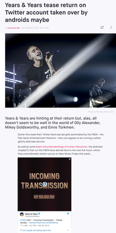 Years & Years - NME Press
