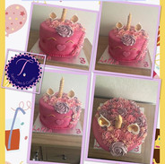3rd birthday 🦄 cake. Rainbow sponge.jpg