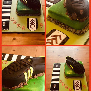 9th birthday cake for Fulham's number one fab! #football #surrey #tamscakesandcookies #birthday