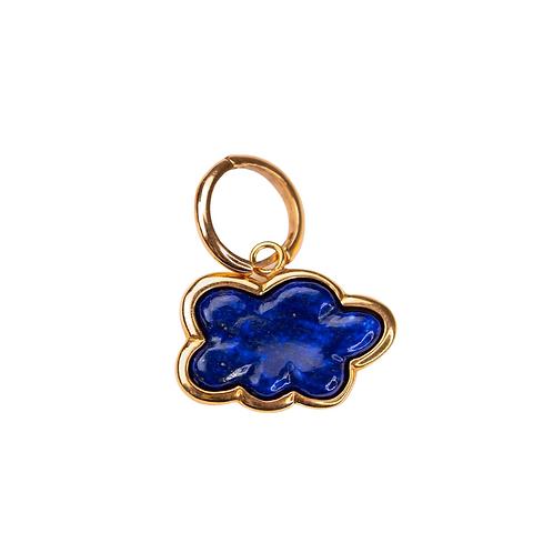 Lapis Lazuli Cloud Hoop Earring by Padme Designs