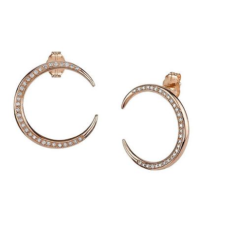 Crescent Diamond Earrings