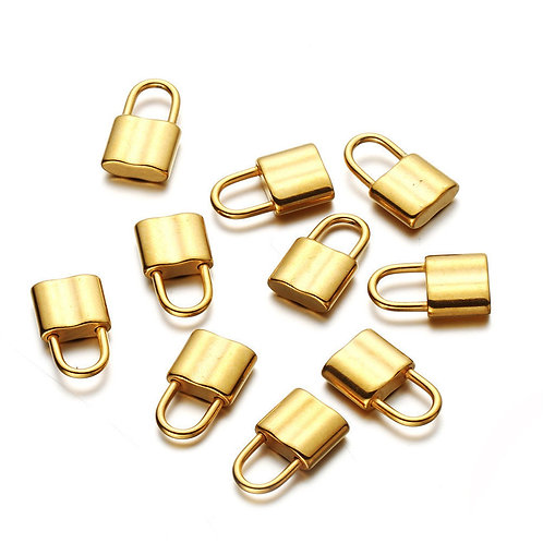 Lock Charm with Engraving