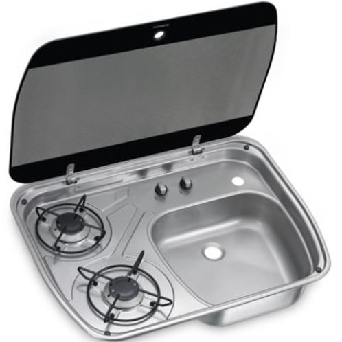 Dometic HSG 2445 2 Burner Combi With Glass Lid