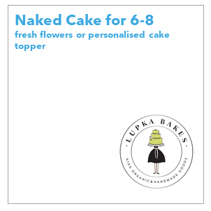 Lupka Bakes Bakery is the best place to choose if you are after organic, homemade cakes and baked goods at reasonable and afforable prices. Lupka Bakes' products are additive-free and delicious. Made with 100% organic ingredients.