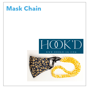 HOOK'D mask chains offer a practical and stylish solution. With a HOOK'D mask chain attached to your face mask whenever in use, the days of searching for it in your handbag or pocket are over. Get 10% off with code BPTA.