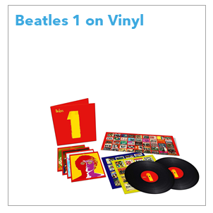 """The Beatles """"1"""" was originally released in 2000 and quickly became the fastest selling album of all time. Pressed on 180g heavyweight vinyl, this double LP gatefold package also includes a four postcard set and 57x85cm fold out poster."""