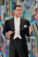 Alex Mendham in white tie
