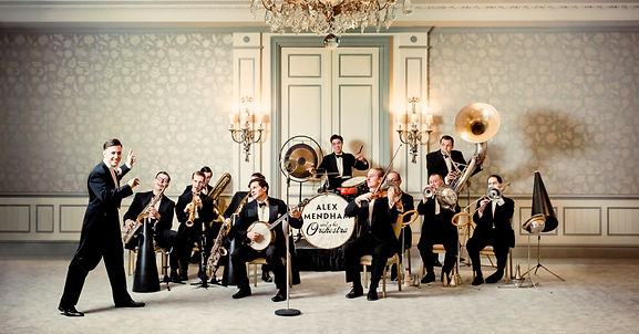 Alex Mendham and His Orchestra, performing at the Savoy Hotel in London