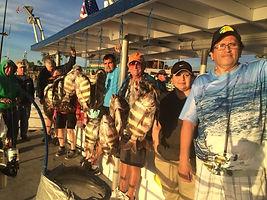 Sheepshead fishs catch on the Danny B