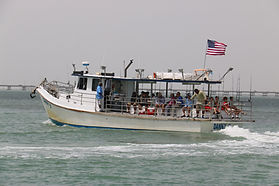 Danny B taking a group up fishing on the bay South Padre Island,TX.