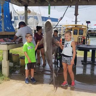 Kids love to fish