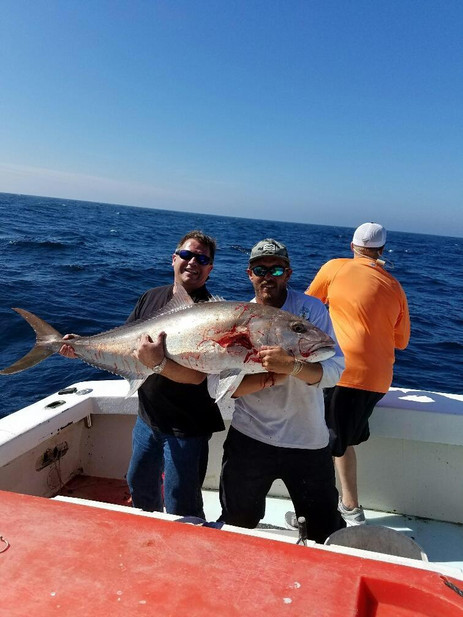 Amberjack fishing on the Salt Walker off the coast of Texas